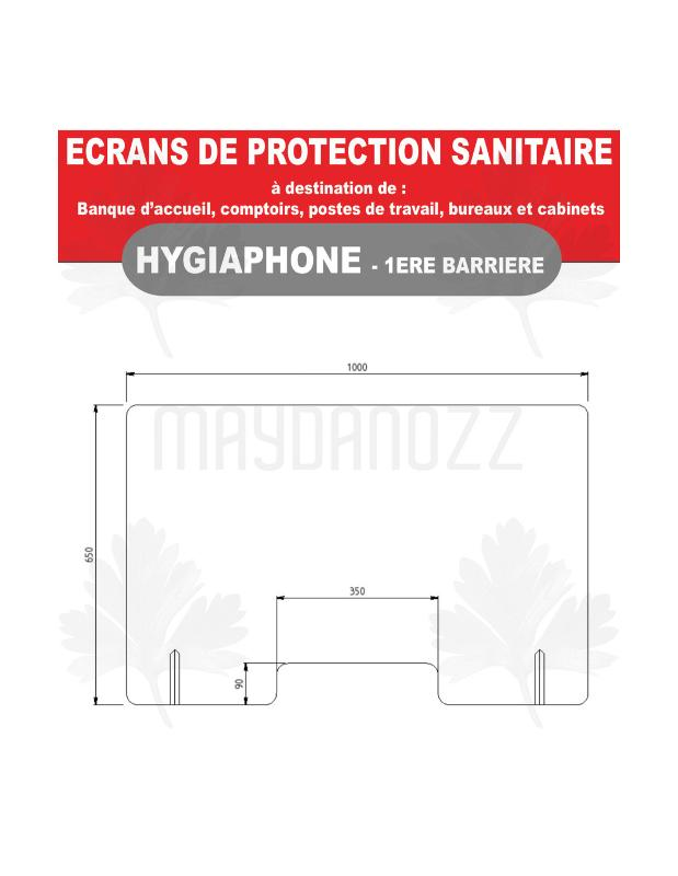 Hygiaphone Vitre Protection Plexiglas Sur Pieds - Prévention