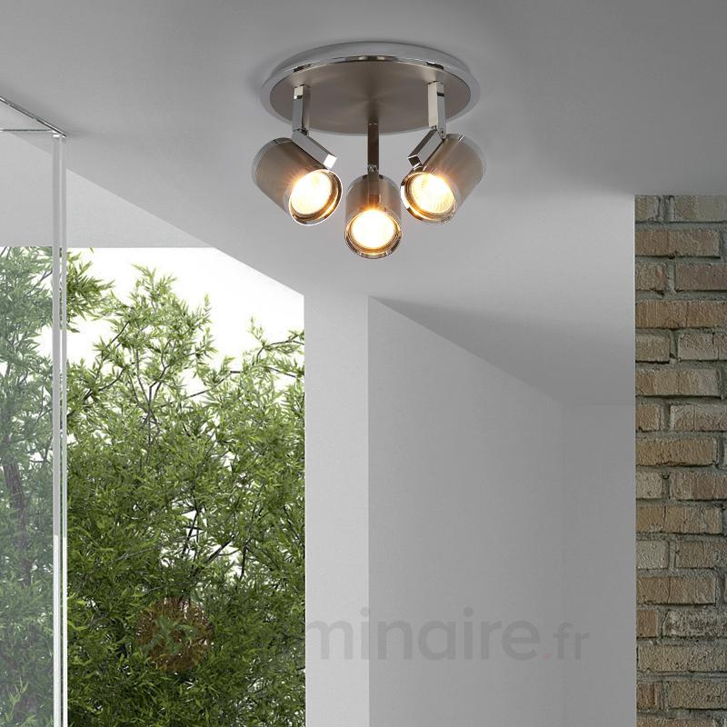 Plafonnier circulaire à trois lampes Jordis - Spots et projecteurs halogènes