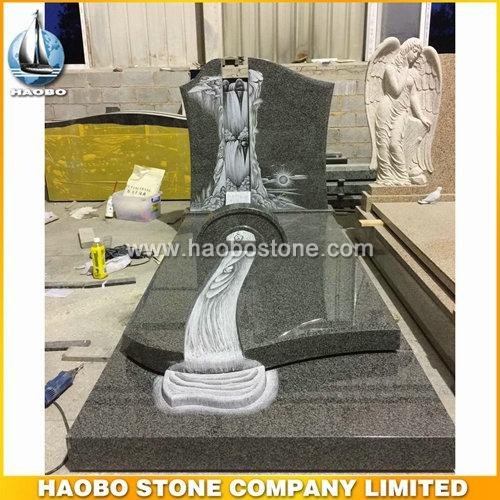 Haobo Factory Laser Etching Granite Headstones Wholesale - French Tombstone