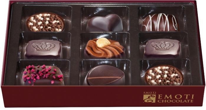 EMOTI Dark Chocolates, Gift packed, 120g. SKU: 012797b -