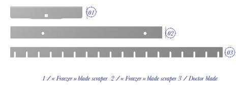 FREEZEDRIED VEGETABLE PUREE AND ICE CREAM - FOOD PROCESSING CUTTING BLADES