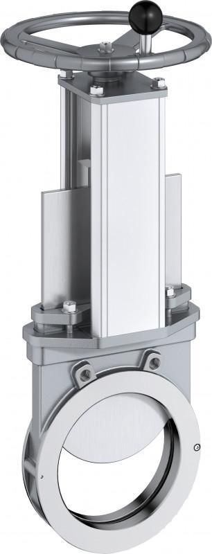 Válvula de guillotina tipo XV - Válvula de guillotina para medios con una consistencia de hasta el 8%.