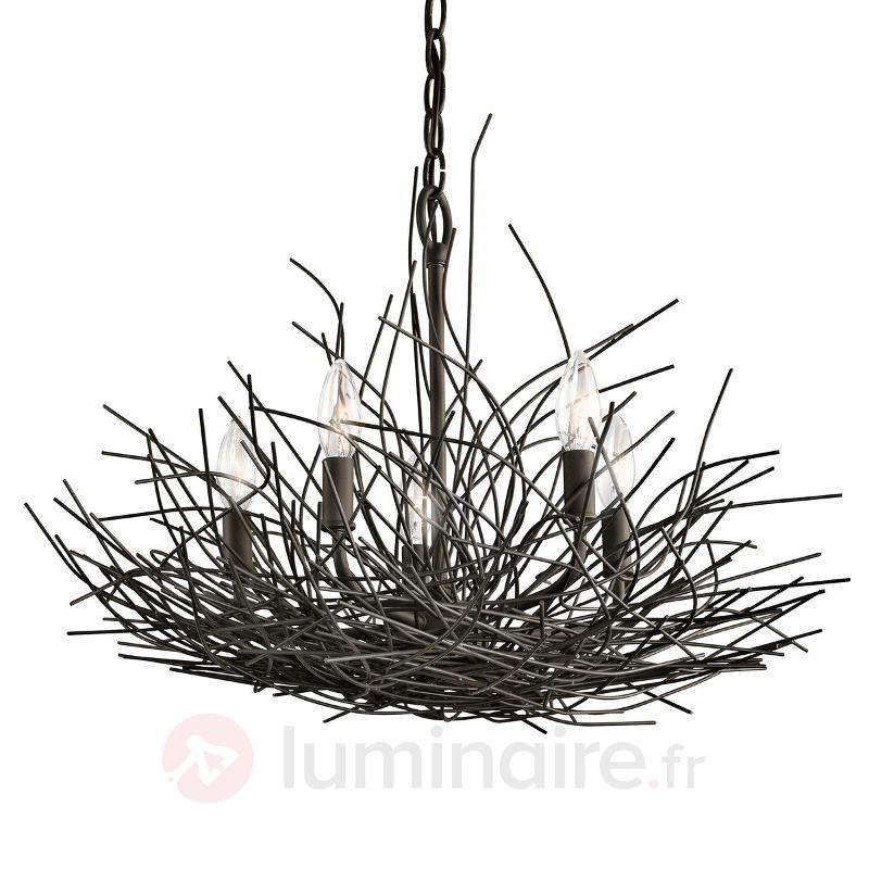 Lustre Organique à 5 lampes au design original - Lustres designs, de style