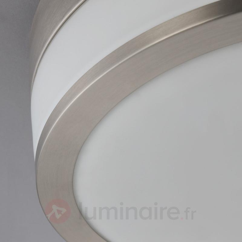 Plafonnier de salle de bain LED Flavi, nickel mat - Salle de bains