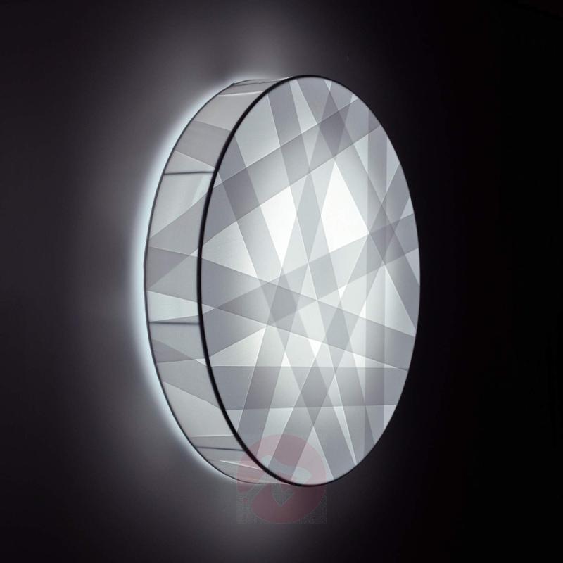 LED wall light Cross Lines CW, 40 cm diameter - design-hotel-lighting