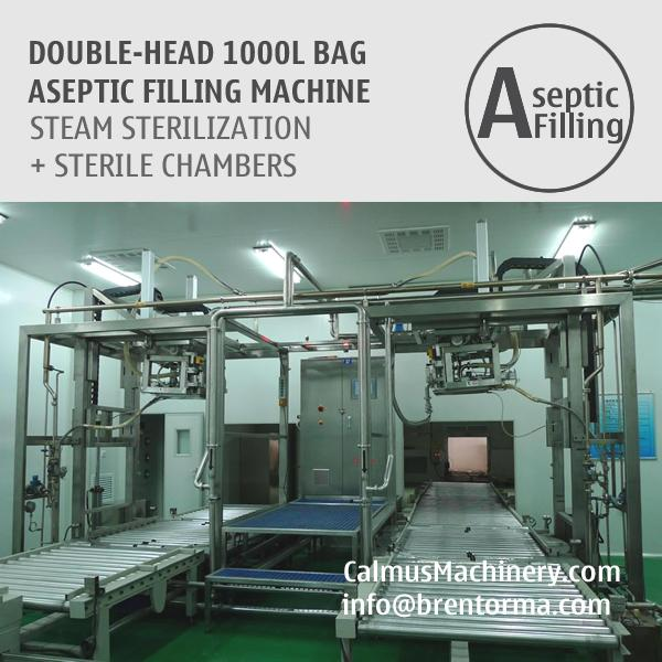 1000 Litre IBC Bag Aseptic Filling Machine - 1000L Bag Aseptic Filler without Backflow for Juice, Sauce, Paste, Puree, Dairy