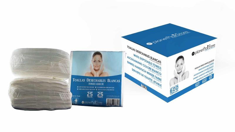 Toalla Desechable Spunlace Cruzado 40×80 Blancas PlanetHair Store® 60% Viscosa - null
