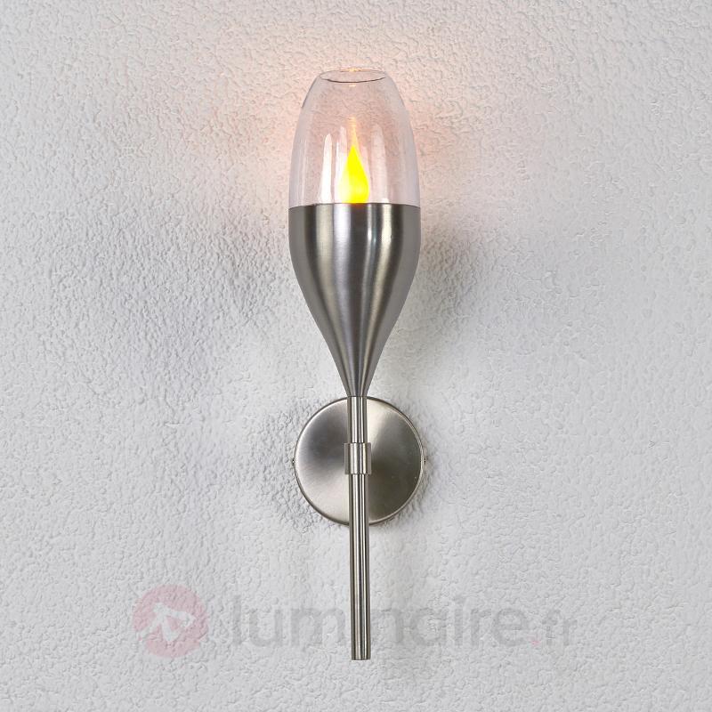 Lampe solaire LED décorative Jari en inox - Appliques solaires