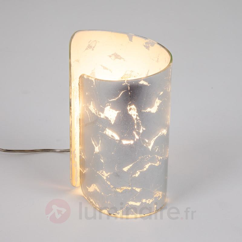 Lampe à poser poétique Papiro argentée - Lampes de chevet
