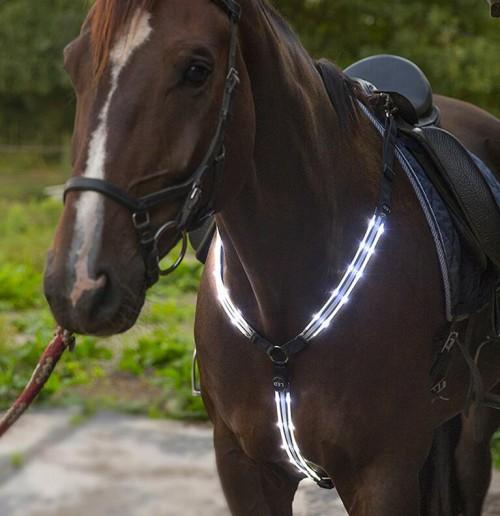 USB rechargeable Flashing Horse Harness  - USB chargable chest and neck LED Flashing Horse Harness