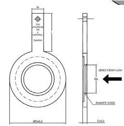 Orifice plate - Quarter circle