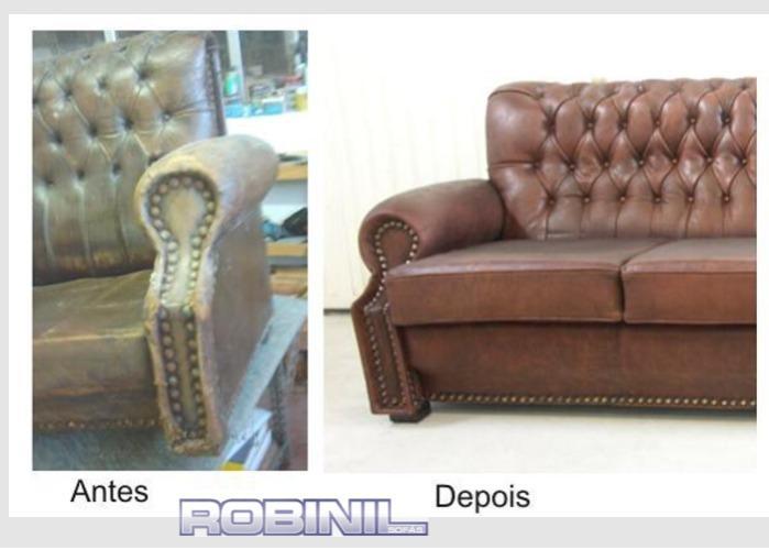 Restauro de sofá em pele  - restauros