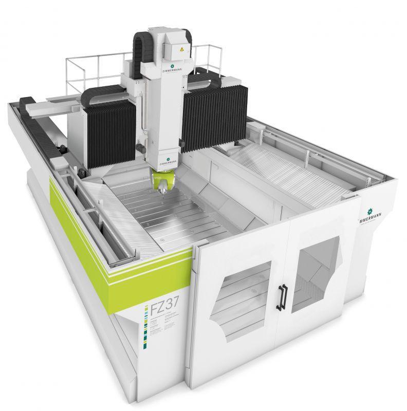 5-осевой фрезерный станок портального типа FZ37 - FZ37 козловых-фрезерный станок для динамической обработки различных материалов