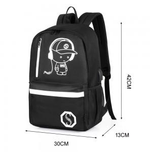 Dr318l Usb Charge Cool Boys Luminous School Backpack - Bags