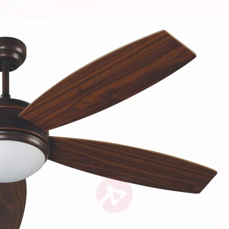 VANU Large Ceiling Fan with Remote Control, Brown - fans