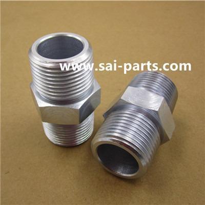 Nipplo tubo esagonale in acciaio -