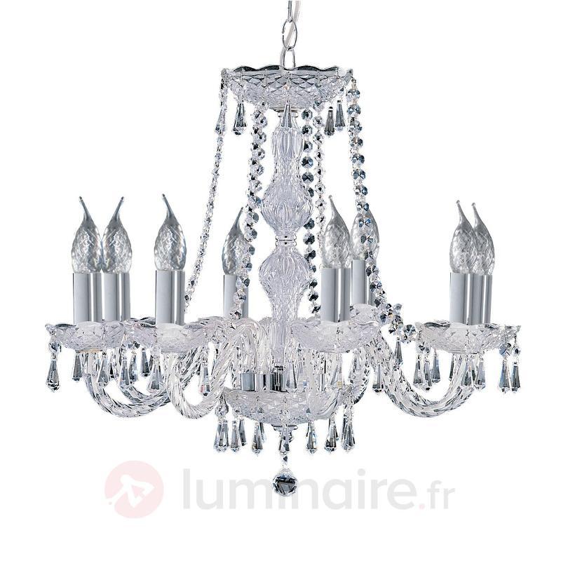 Lustre cristal à 8 lampes HALE - Lustres classiques,antiques