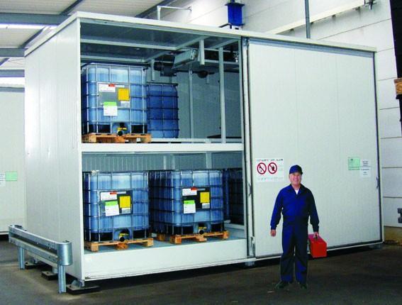 Sicherheitstechnische Überprüfung WHG-Lager inkl An-... - Gefahrstoffcontainer