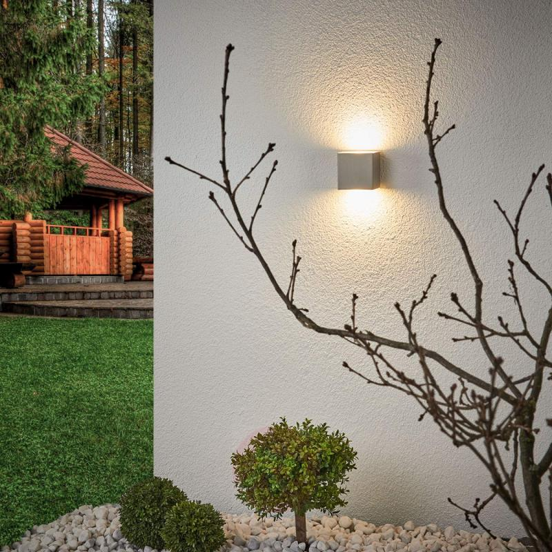 Quality stainless steel LED outdoor wall lamp Jana - stainless-steel-outdoor-wall-lights