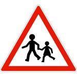 Panneau A13a Endroits Fréquentés Par Les Enfants - Balisage De Chantier Et Panneaux Routiers