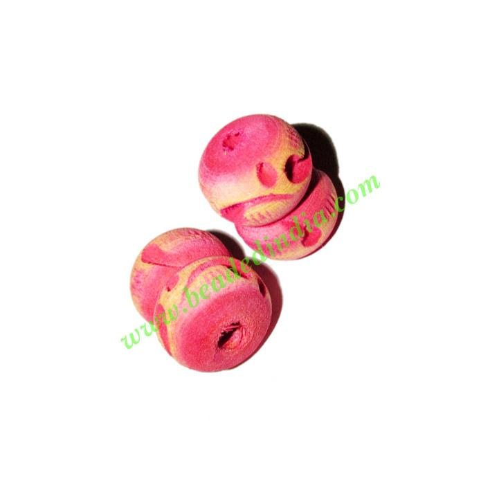 Wooden Carved Beads, size 15x20mm, weight approx 1.8 grams - Wooden Carved Beads, size 15x20mm, weight approx 1.8 grams
