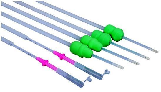 Deep deferente cerdo semen cateter con escala en línea - Catéter + tapón desechable de profundo impacto Post cerdo + escala  linea semen