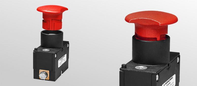 Einpoliger Notabschalter für Flurförderzeuge - Notabschalter für Spannungen bis 48V DC bzw. Batteriespannungen