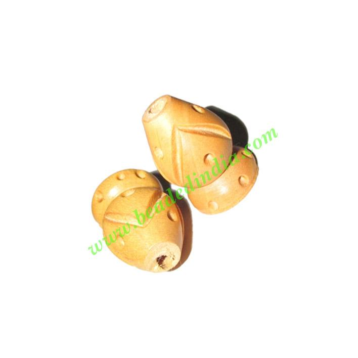 Natural Color Wooden Beads, size 15x22mm, weight approx 1.68 - Natural Color Wooden Beads, size 15x22mm, weight approx 1.68 grams