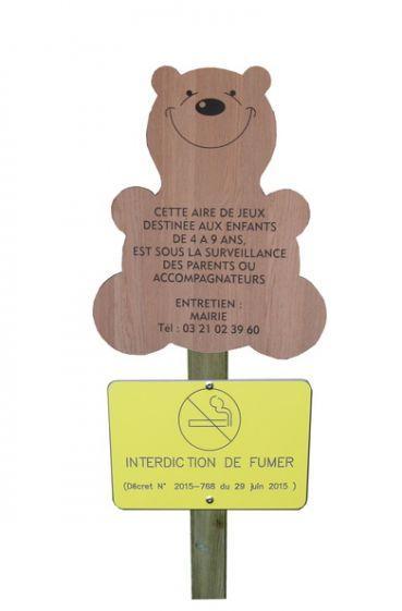 Panneau Aire De Jeux + Interdiction De Fumer - Sécurité Aire De Jeux