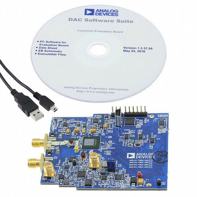 AD9163 EVAL BOARD WITH CLOCK, PM - Analog Devices Inc. AD9163-FMCC-EBZ