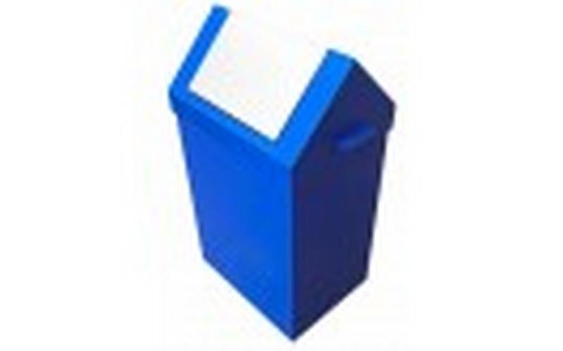 Metal waste bin - null