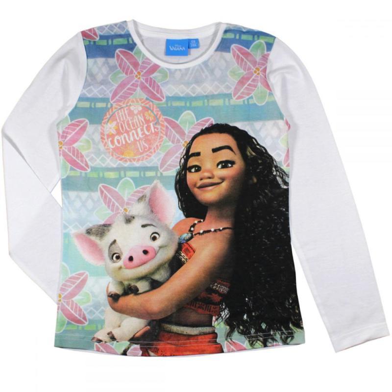 24x T-shirts manches longues Vaiana du 3 au 8 ans - T-shirt et polo manches longues