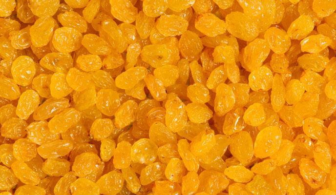 Golden raisins -