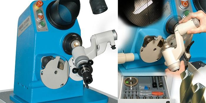 Bohrerschleifmaschine MEGA<>POINT blueline light - optische Präzisions-Bohrerschleifmaschine SWISS MADE