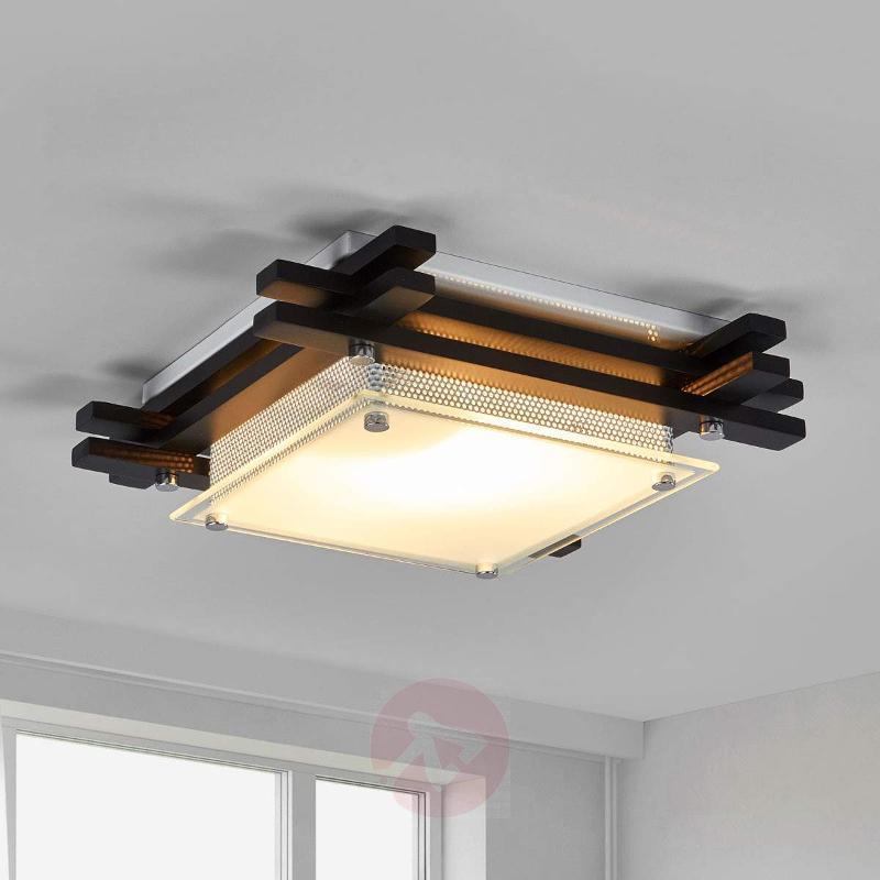 EDISON Wooden Ceiling Lamp - Ceiling Lights
