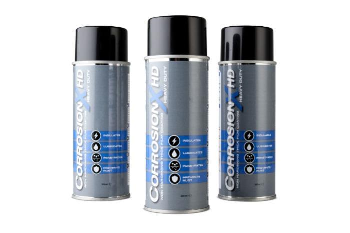 Corrosion X HD - Spray inhibidor de óxido | Latas de aerosol de 355 ml (12 por caja)
