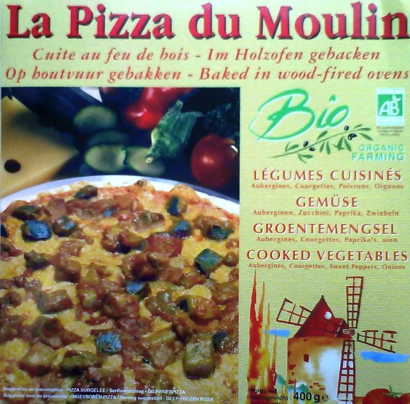 Pizza aux légumes cuisinés