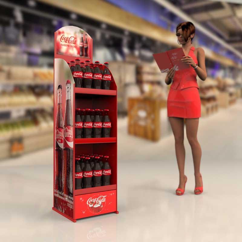Торговая стойка Кока Кола. От производителя Bendvis - Производитель торгового оборудования Bendvis