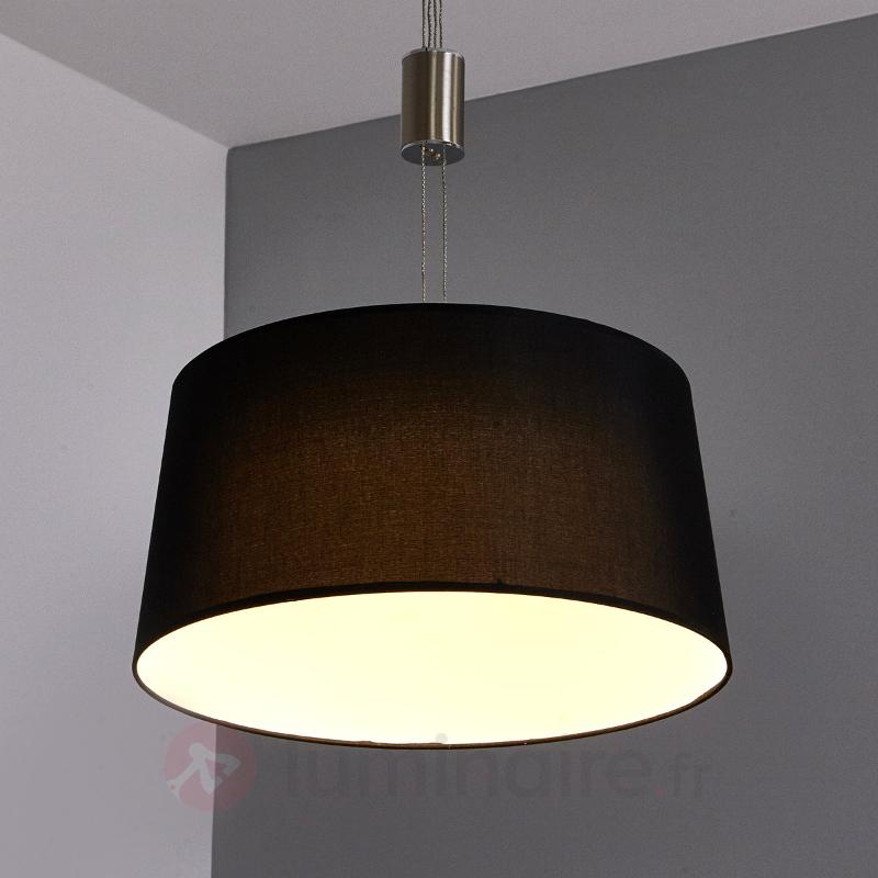 Suspension LED noire Wanja - Suspensions en tissu