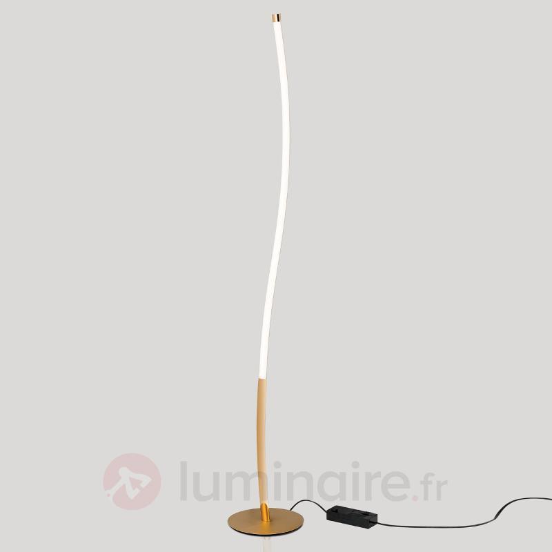 Lampadaire LED doré Alen - Lampadaires LED