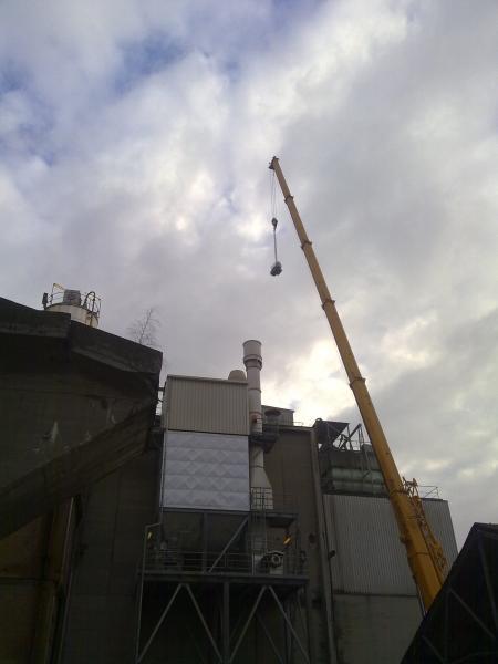 Manutention par grue - Maintenance électro-mécanique sur site