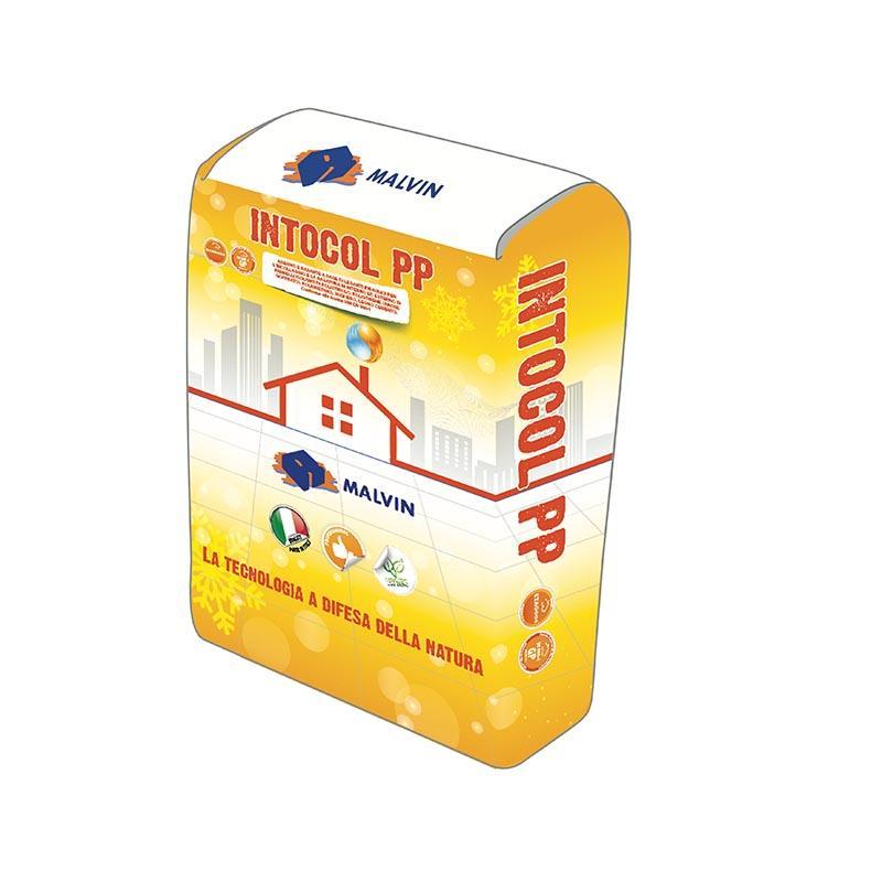 Adesivo/rasante per cappotto INTOCOL PP - Conforme alla norma UNI EN 998-1