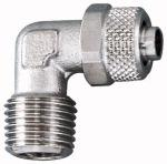 Angled screw-in fitting, ET conical, R 3/8, for hose... - Male elbow, conical male thread, acc. to ISO 7-1