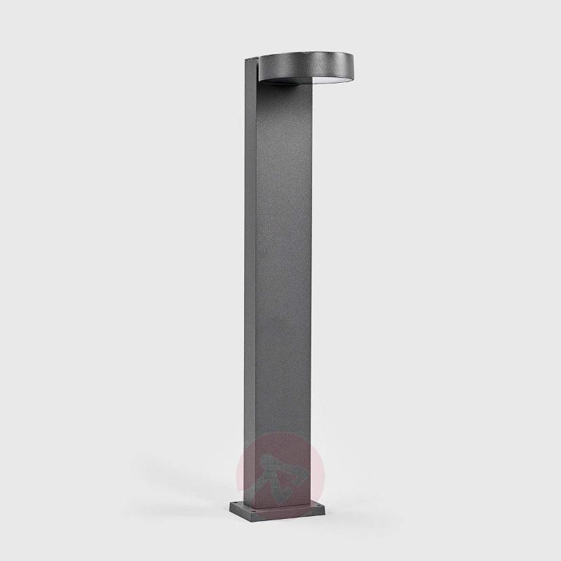 Modern LED pillar lamp Ksenia in dark grey - Pillar Lights