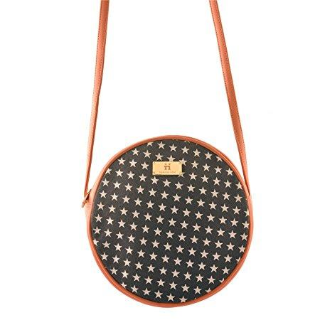 Women's Sling Bag (Blue and Peach)