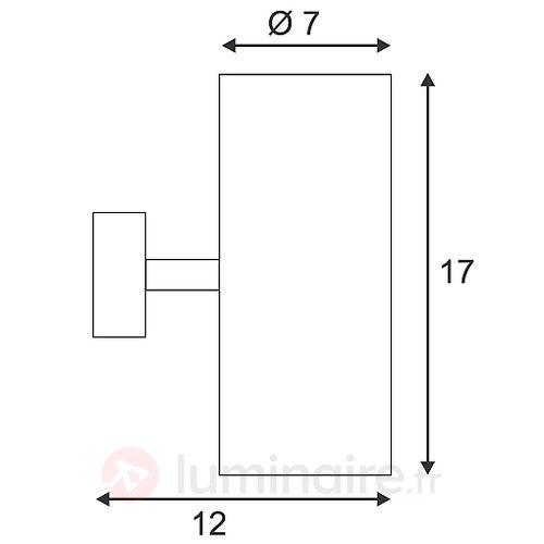 Applique BARRO UP-DOWN en aluminium - Appliques chromées/nickel/inox