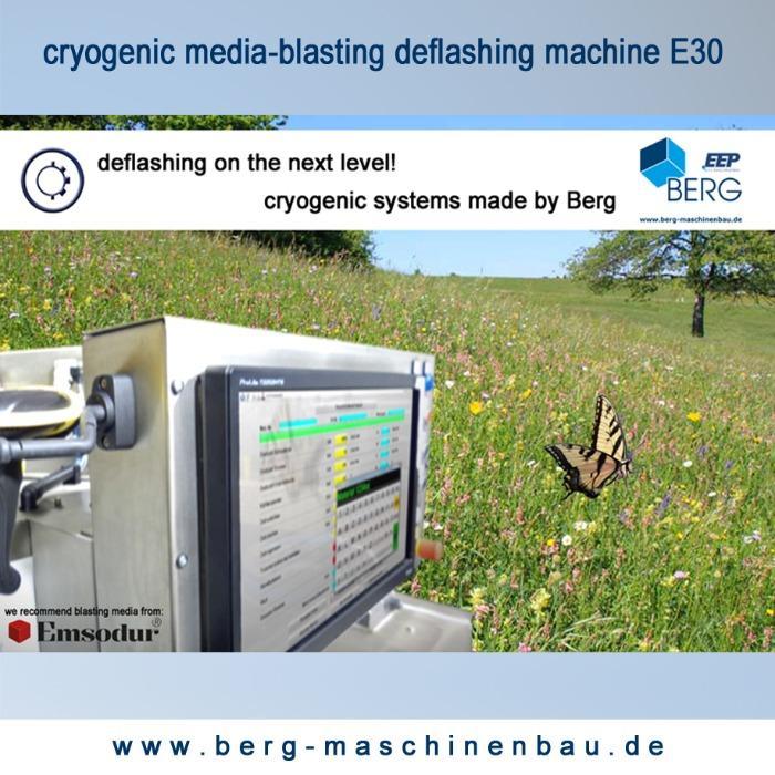 Installation d'ébavurage cryogénique E30 - pour l'ébavurage d'élastomères, plastomères, thermodurcisseurs & zinc moulé pres