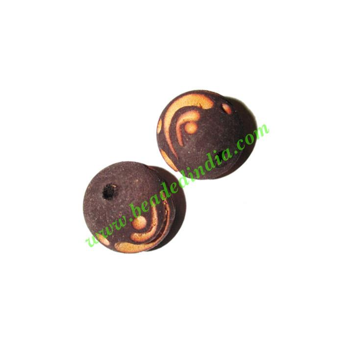 Wooden Carved Beads, size 17mm, weight approx 1.8 grams - Wooden Carved Beads, size 17mm, weight approx 1.8 grams