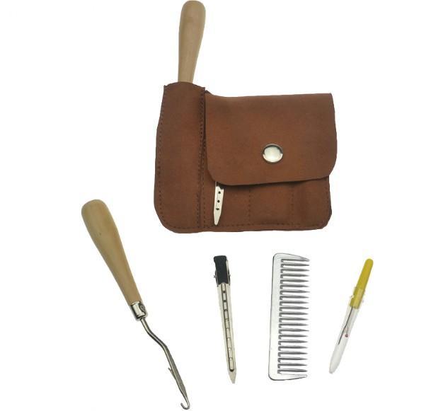 horse comb kit horse brush saddlery kit horse brush bag  - Horse hair brush comb,horse tail brush comb