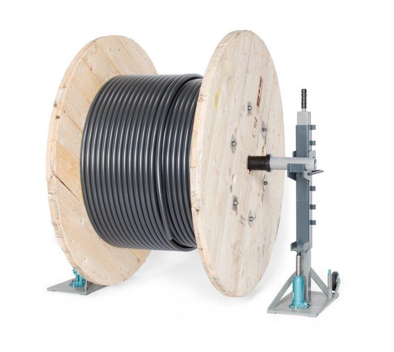 TROMBOI 2003 - Manueller Trommelabwickler mit Handydraulik für Trommel-Ø max. 2000mm